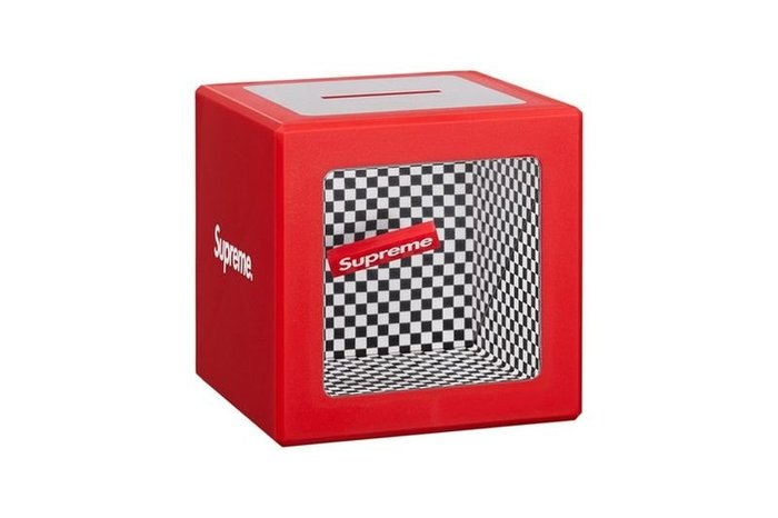 全新商品 Supreme 18SS Illusion Coin Bank 方塊 零錢桶 存錢桶
