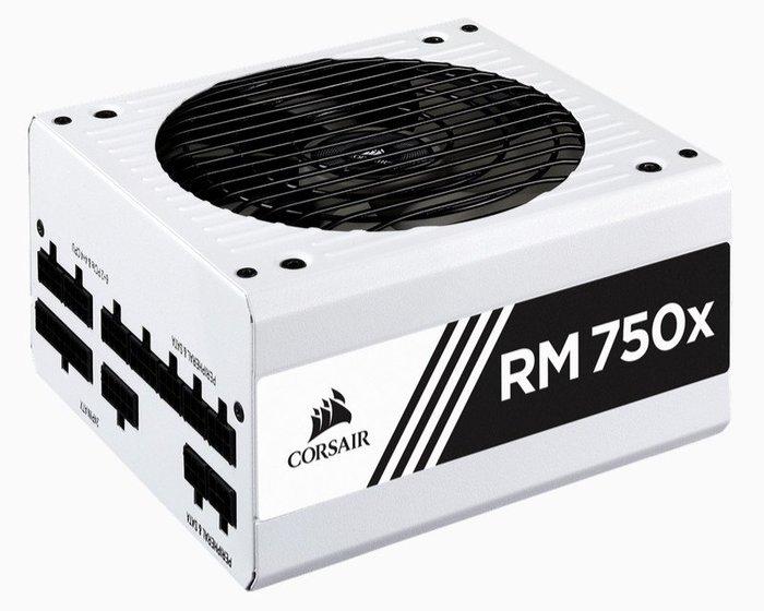 光華CUMA散熱精品*海盜船 CORSAIR RM750X 白殼 金牌 全模組電源供應器~客訂