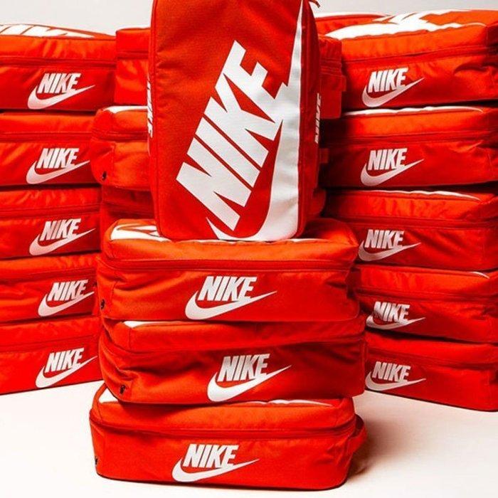 ☆HAru☆ NIKE SHOE BOX BAG 手提包 橘紅色 鞋盒 鞋袋 大勾 NSW 現貨 BA6149-810