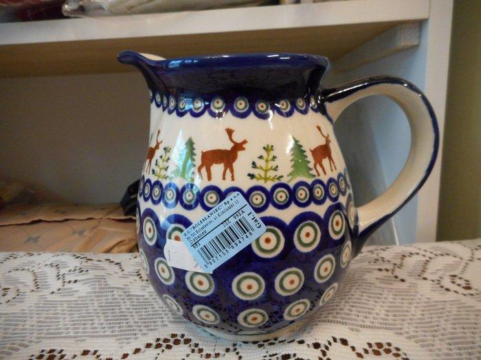 ~~凡爾賽生活精品~~全新波蘭進口彩繪聖誕樹麋鹿造型奶罐.冷水壺.果汁壺