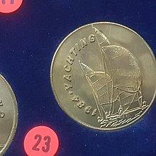☆承妘屋☆1984年美國洛杉磯奧林匹克運動會奧運紀念章 ~ZAB.帆船.23