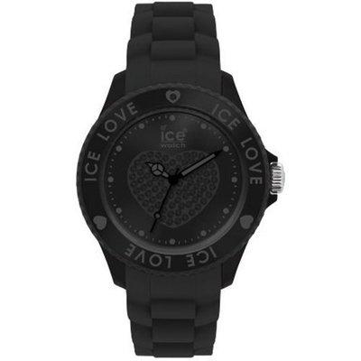 [永達利鐘錶 ] ICE watch 黑色水鑽愛心限定橡膠女錶LO.BK.S.S.10原廠公司保固24個月35mm