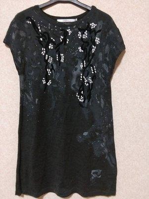 專櫃【CHABER巧帛】印染灰色銹線珠飾毛衣(六藝ECCO洪秀女mia mia流行秀verna萊卡佛)