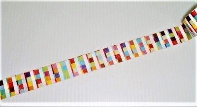 紙膠帶 mt博 限定 多彩框格 特殊材質植絨款 分裝25cm