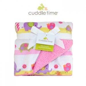 美國Cuddle time-多功能寶寶攜帶毯(粉紅動物園)柔柔毯(5779)