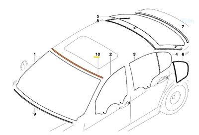 【歐德精品】現貨.德國原廠BMW E90 E91 前擋風玻璃上膠條&後擋風玻璃上膠條 膠條 飾條 2in1