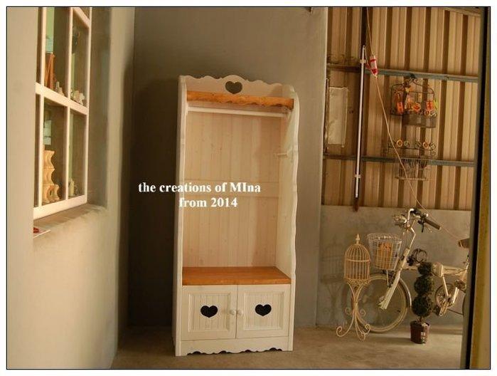 米娜天然直感手作-小吊衣櫃衣櫥訂做系列8 品味專屬玄關衣帽櫃*領帶˙腰帶掛桿設計