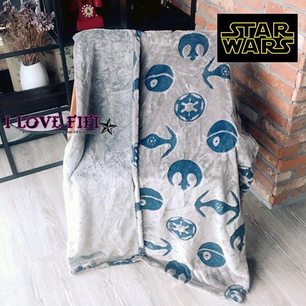❤FIFI❤STAR WARS星際大戰正版經典帝國標誌壓紋超帥氣珊瑚絨毛毯 被子 冷氣毯 寶寶毯 壁飾 居家布置