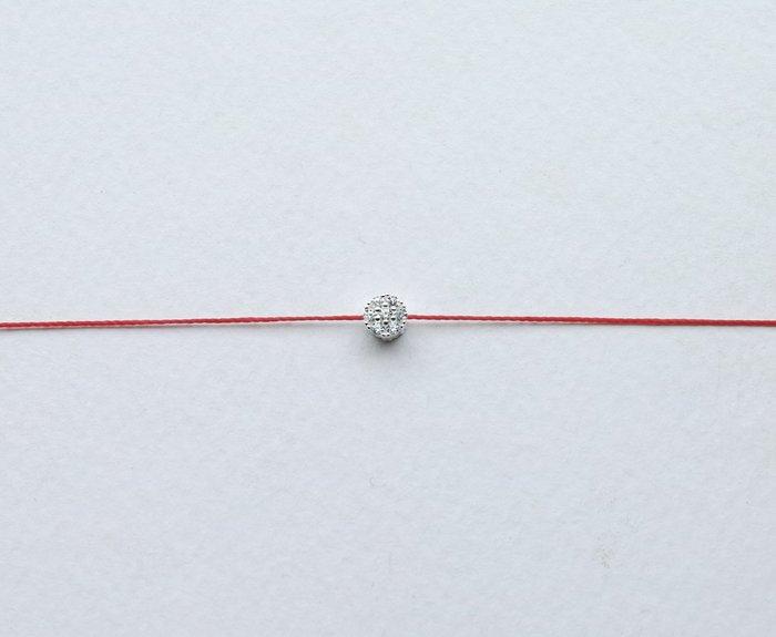[Le Bonheur Line] 幸福線 手工/925純銀 七小鑽 姻緣 手鍊 redline 飾品 紅線 單鑽