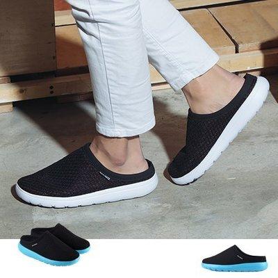 Ovan 男款 前包後空網眼超輕量透氣 鳥巢拖鞋 懶人拖鞋 運動拖鞋 張菲鞋 黑藍