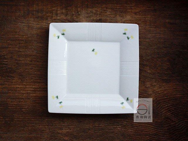 +佐和陶瓷餐具批發+【XL07129-21線紋9吋白角皿-日本製】日本製 方盤 角皿 西餐盤 主食盤 擺盤