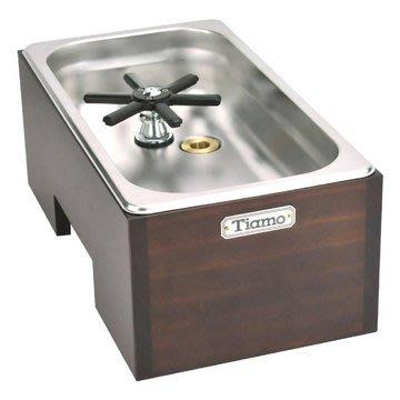TIAMO 洗杯器渣桶附木盒(大) *BC2409 Espresso 咖啡配件.不鏽鋼堅固耐用.操作簡易