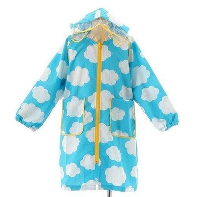 【日本人氣代購】繽紛兒童長版雨衣 陽光白雲款