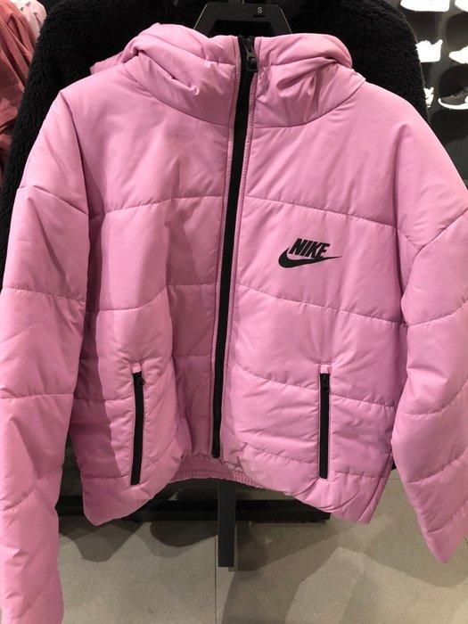 [飛董] NIKE NSW THERMORE 保暖 鋪棉 連帽外套 女裝 CZ1467-010 黑 680 粉紅