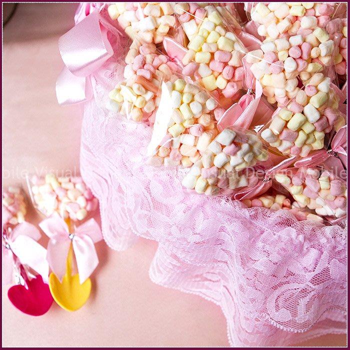 【幸福鏟子迷你粉彩棉花糖X100份+大提籃X1個】-生日分享/二次進場婚禮小物棉花糖/送客喜糖/來店禮/幸福朵朵