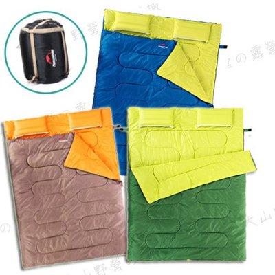 【大山野營】新店桃園 NatureHike Double 帶枕頭雙人睡袋 纖維睡袋 化纖睡袋 露營睡袋 信封型睡袋