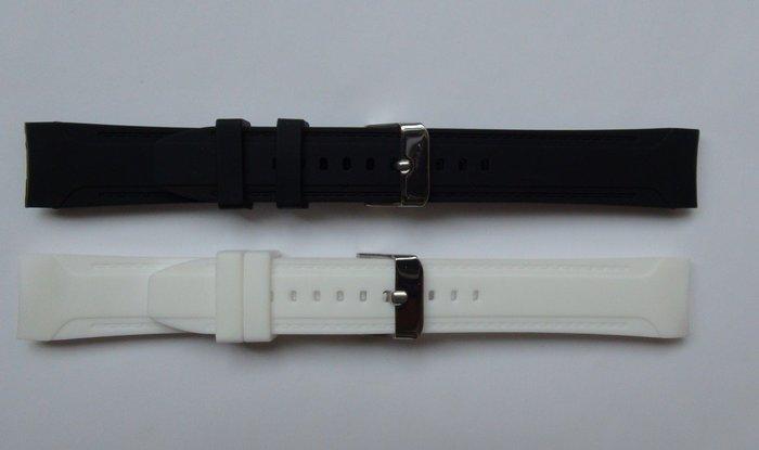 硅膠表帶彎頭18mm橡膠手表帶 戶外運動防水時尚膠表帶 手表配件時尚百搭錶帶 手錶配件