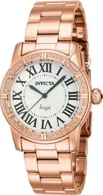 展示品 Invicta 14718 Angel Royale Swiss Diamond Accented Rose Tone Womens Watc
