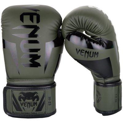 [古川小夫] VENUM Elite 菁英拳擊手套~拳擊 泰拳 MMA格鬥專用1392200 軍綠色 拳套 - 8oz