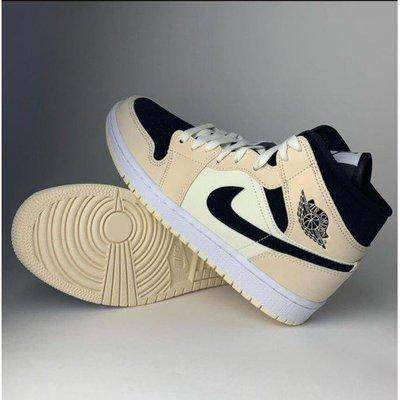 """全新Air Jordan 1 Mid """"Barely Orange"""" 奶茶色 BQ6472-800 女籃球鞋"""