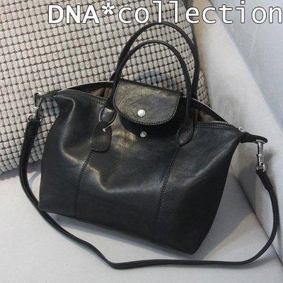 DNA*collection]超輕盈軟羊皮摺疊托特包真皮水餃包~longchamp類似款式 smalls