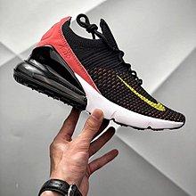D-BOX Nike Air Max 270 黑粉 透氣網面 飛線 氣墊跑步鞋 女運動鞋