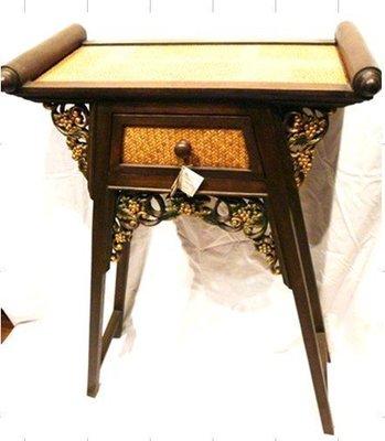 INPHIC-東南亞 家居飾品 泰式飯店 會所 木雕 小傢俱 桌子 竹編花