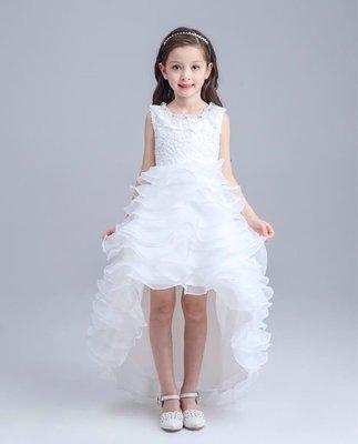 韓版女童蓬蓬 公主裙 畢業演出服 鋼琴演奏花童 白色禮服 洋裝紗裙 015還有多款冰雪奇緣