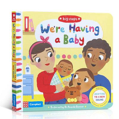 進口英文原版繪本 The Big Steps :We're Having a Baby 二胎 親子共讀 我們的寶寶 情商