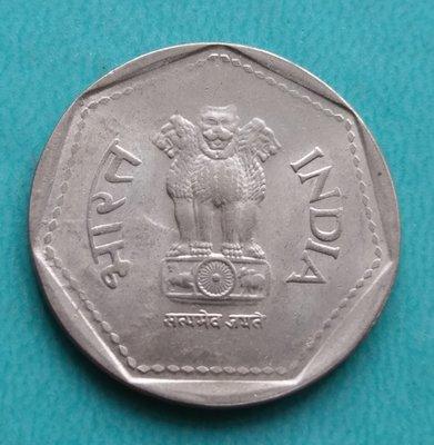 印度 1984年   印度國徽阿育王獅子    1盧比  鎳幣 280-048
