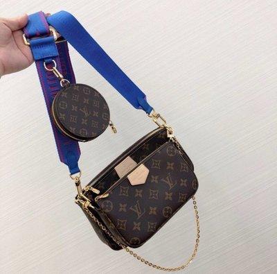 Louis Vuitton J02473 Shoulder Strap 肩背帶 藍