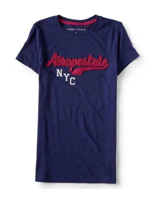美國正品Aeropostale[Aero] 美式休閒短袖T / 藍 ~M (編號:3782 )