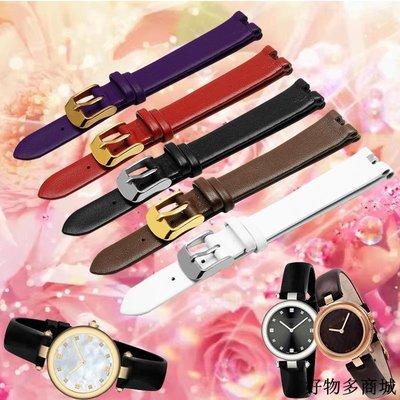 手錶配件 錶帶 手表帶女適配gucci古馳YA141401 YA141501古奇GC凹口牛皮腕帶全館免運價格下殺