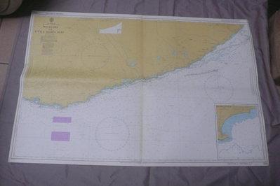紫色小館90-1-DEPTHS IN METRES-航海圖-WELIGAMA TO LITTLE BASSES REEF