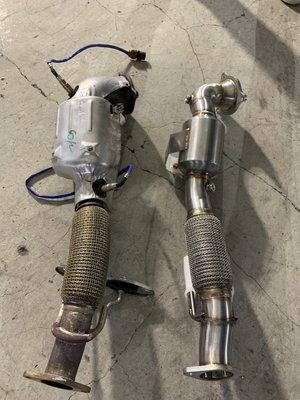 高雄 乙鑫排氣管 FORD KUGA FOCUS 1.5T 當派 200目 尾飾管 閥門