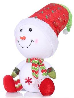 【洋洋小品可愛坐姿聖誕雪人#25】聖誕節聖誕飾品聖誕襪聖誕樹聖誕燈聖誕氣氛佈置聖誕老公公人衣服聖誕帽聖誕花聖誕燈聖誕樹