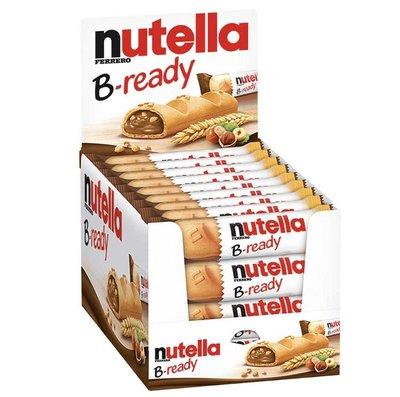 德國 nutella B-ready 榛果醬夾心巧克力脆餅 能多益 德國夾心巧克力手指餅 22gx36入
