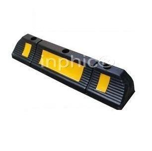 INPHIC-強反光車輪定位器 優質橡膠擋車器(3孔) 到車墊