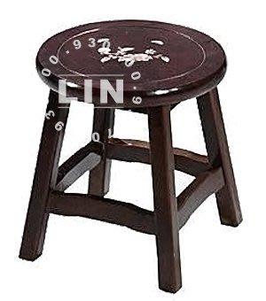 【品特優家具倉儲】◎994-11餐椅圓凳吉品鑲貝低圓凳HV-310