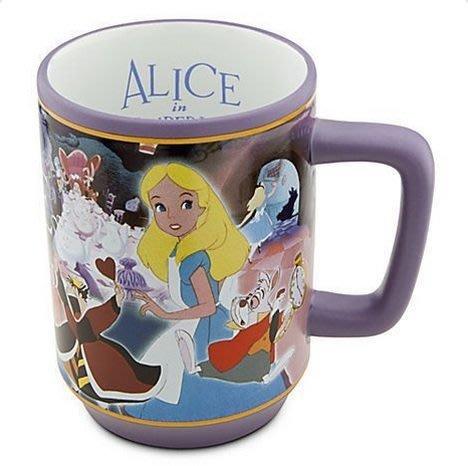 【美國大街】正品.美國迪士尼愛麗絲馬克杯 艾莉絲馬克杯 愛麗絲夢遊仙境馬克杯 Alice