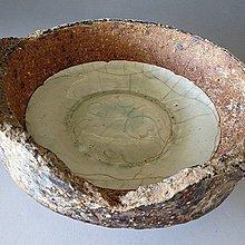 【 金王記拍寶網 】J3115  宋代窯洞出土 青白釉 定窯碗 窯燒缽青白釉刻花紋碗  一件 罕見稀少~