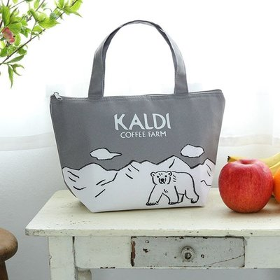 尺寸不錯用 日本雜誌附錄 可愛北極熊 保冷保熱2用 托特包 保溫袋 便當包 午餐袋 手提包 保冷包(KBT17)