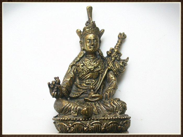 【雅之賞|藏傳|佛教文物】*特賣*尼泊爾 手工銅製蓮花生大士~Q1342