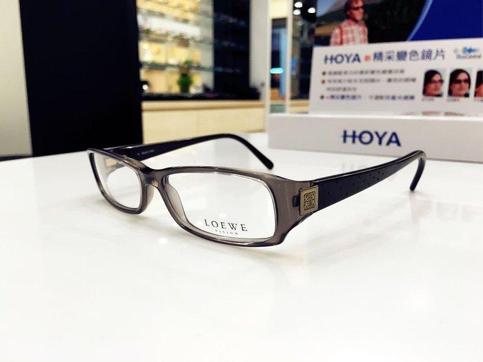 💥驚喜出清特價💥LOEWE 西班牙品牌 黑色經典logo光學鏡架 歐美版 義大利製VLW649S 原售價$11800