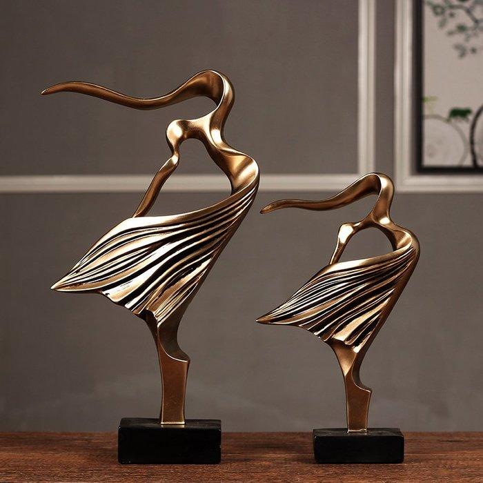〖洋碼頭〗北歐抽象藝術少女擺件雙人舞者 創意客廳電視櫃樣板房軟裝飾禮品 hbs283