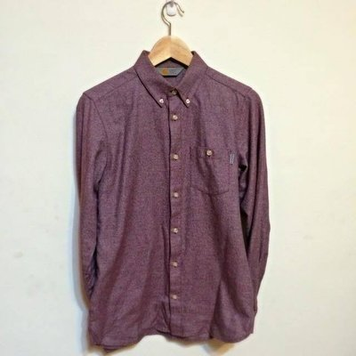 Carhartt WIP L/S Cram shirt   素色  襯衫 cranberry