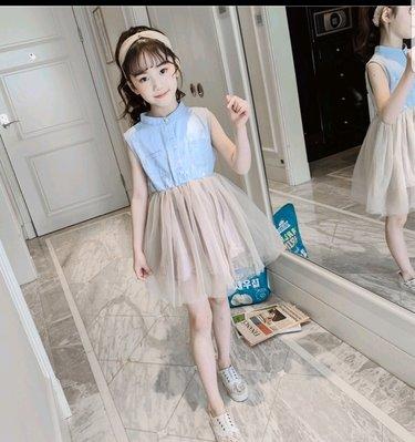 《筑樂寶貝窩》中大童超洋氣甜美小公主背心連身裙