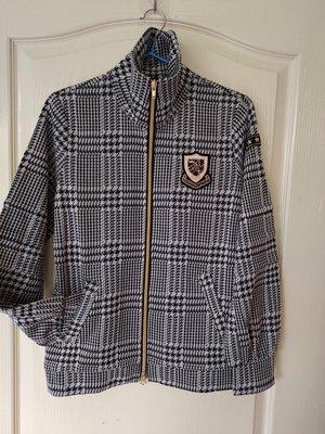 [99go] 日本製 Cara  comfortable clothes 千鳥格羊毛混紡 針織外套 CS號