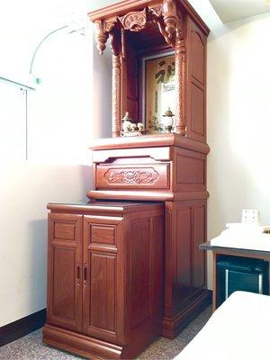 實木傳統佛櫥 天然櫸木神明櫥 實木公媽櫥 神桌神龕 佛桌佛龕