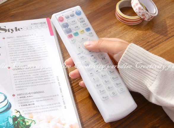 【電視遙控器套】透明矽膠電視機遙控器 保護套 矽膠套☆精品社☆